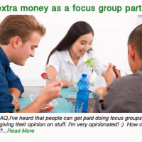 Earn extra money as a focus group participant