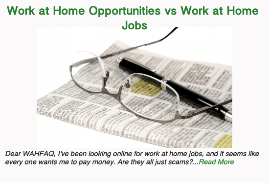 The Difference Between Work at Home Opportunities and Work at Home Jobs