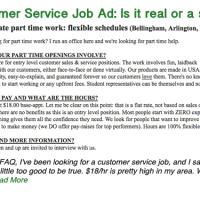 Customer Service Job Ad: Is it real or a scam?