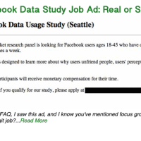 Facebook Data Study Job Ad: Is it real or a scam?