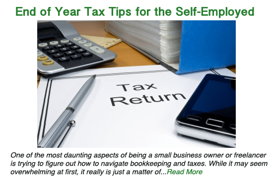 End of year tax tips for the self-employed