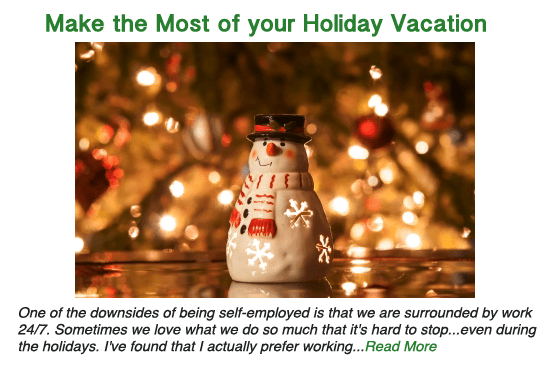 Make the most of your holiday vacation