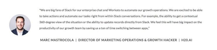 Marc Mastrocola, Director of Marketing Operations at H2O.ai