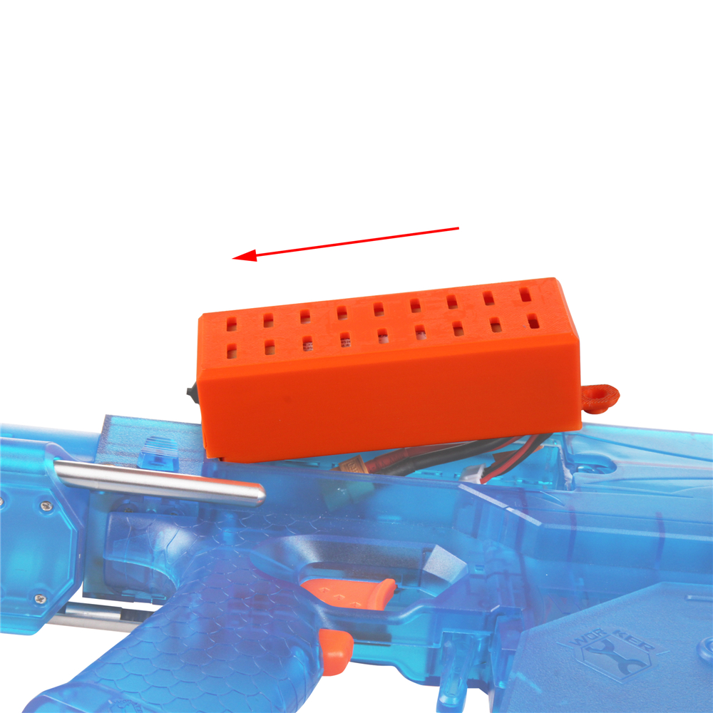 Worker Mod Lipo Battery Cover Extended Orange3D Printing for Rival Perses Toy