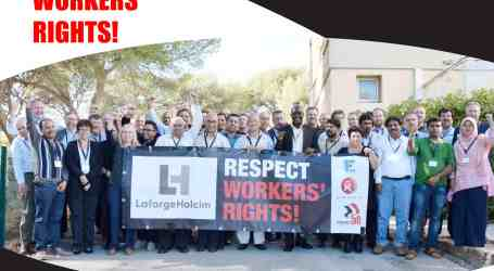 IndustriALL Global Union highlights struggles in materials industries