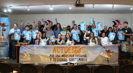 Unions take action in support of sustainable national and regional industry
