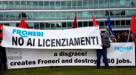 Froneri ice cream workers take their fight from Italy to Nestlé headquarters in Switzerland