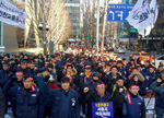 korean workers continue offensive on multiple fronts