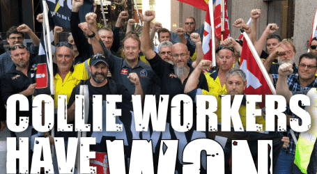 Collie workers' six-month strike ends in victory