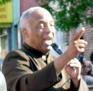 Charles Barron<br>at June 23 protest.