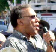 Larry Holmes<br>at June 23 protest.