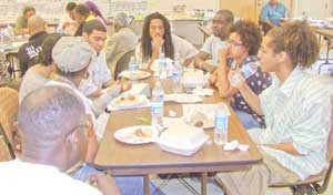 Youth activists meet during breakout session<br>at Black Left Unity Conference, May 31.