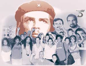 FIST delegation in Cuba calls for Justice for<br>the Cuban Five in the spirit of Che.