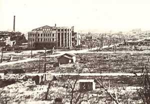U.S.-led forces leveled Pyongyang<br>in Korean war.