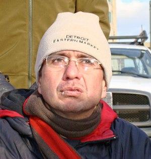 Jorge Parra outside the Detroit auto show, Jan. 14.WW photo: David Sole