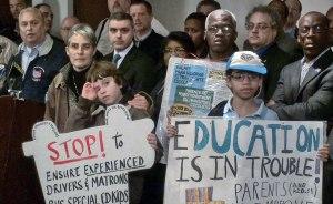 Jan. 14, New York. Michael Cordiello, president of ATU 1181-1061 tells how Mayor Bloomberg forced the school bus strike. WW photo: Mike Otto