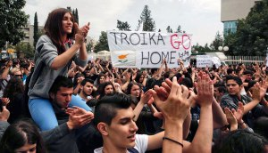 Protest in Cyprus.