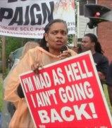 Civil Rights veteran Rose Sanders.