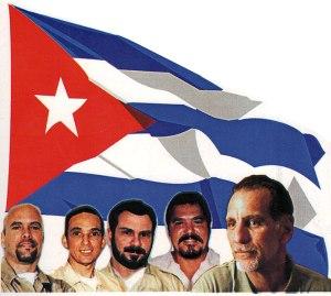 Gerardo Hernández Nordelo, Antonio Guerrero Rodríguez, Fernando González Llort, Ramón Labañino Salazar, and Rene González Sehewert.