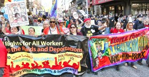 New York, May 1 Coalition for Worker & Immigration Rights.WW photo: Brenda Ryan