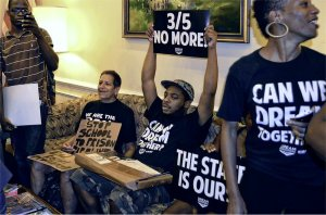 Dream Defenders take over Gov. Rick Scott's office in Tallahassee, Fla.