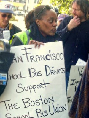 San Francisco School Bus Drivers President Lois Correa, Oct. 30. Photo: Alicia Loaiza