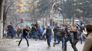 Protests started in the industrial city of Tuzla.