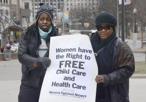 Women demand rights, March 26.WW photo: Liz Green