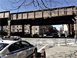 Site of gas explosion in East Harlem.WW photo: Johnnie Stevens