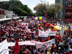 March 9 rally in Caracas in defense Venezuela and against the U.S.-backed fascist gangs. Photo: www.nicolasmaduro.org.ve