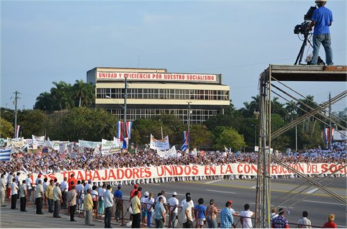 One million march in Havana.WW photo: Berta Joubert-Ceci