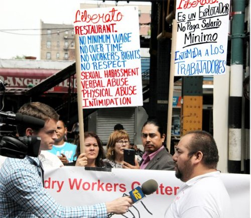 Restaurant workers demand justice
