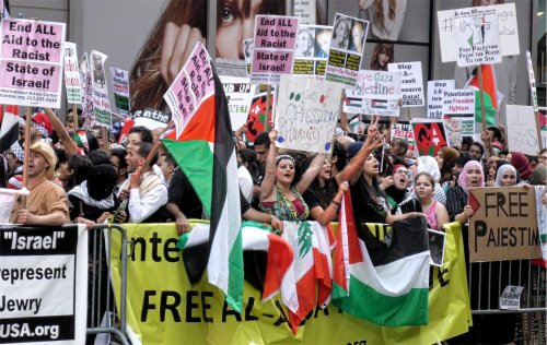 New York City: Al-Quds July 25 protest in solidarity with Palestine.WW photo: G. Dunkel