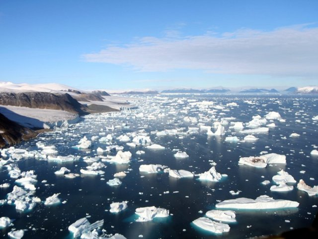 Disco Bay in Greenland, well above the Arctic Circle, in August.WW photo: G. Dunkel