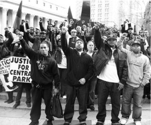 Photo from a leaflet for an Oct. 29, 2012, protest for the Five.
