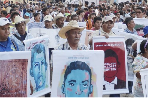 Protesters take to the streets in Mexico City, Nov. 5, in one of many protests demanding the return of 43 missing students.Photo: Alan Roth