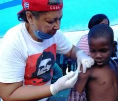 Cuban internationalist doctor in Haiti.