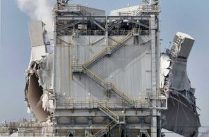 ExxonMobil refinery after explosion Feb.. 18.