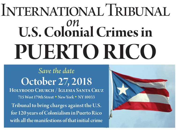 International Tribunal to expose U.S. colonial crimes in Puerto Rico