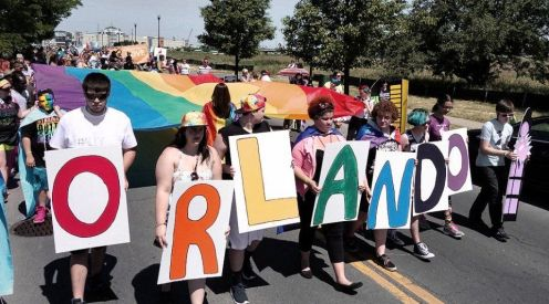 Pride marchers in Syracuse, N.Y., June 19.