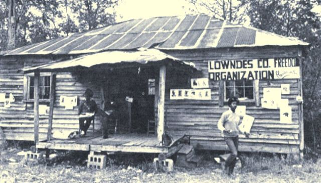 "Lowndes County Freedom Organization, home of the ""original Black Panther Party."" Alabama, 1966."