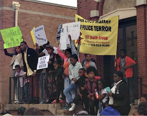 Youth demand justice for Freddie Grey in Baltimore, April 21.WW photo: Colleen Davidson