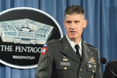 The head of the U.S. Africa Command (AFRICOM), Army Gen. David Rodriguez.