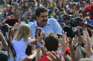 President Nicolás Maduro on election day in April 2013.
