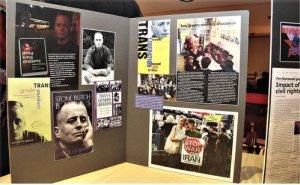 Display of Leslie's work and photos.WW photo: Brenda Ryan