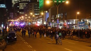Thousands of protesters marched through downtown Montreal, March 24.