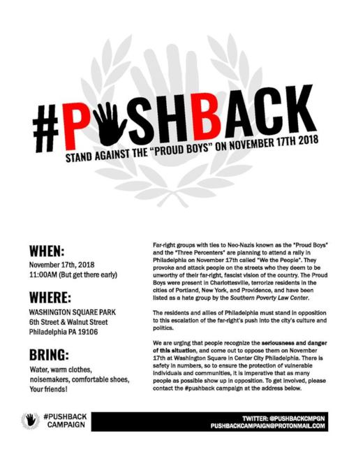 Nov. 17 in Philly: Fight fascist violence!