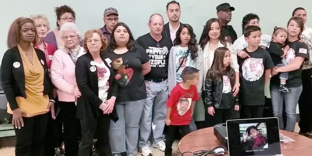 Families of victims of killer cops. San Jose, Calif.