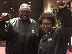 Clarence Thomas and Stacey Rodgers, ILWU Local 10.WW photo: Cheryl LaBash