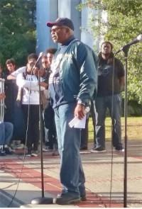 Clarence Thomas at Berkeley, Calif., vigil.Photo: Alice Loaiza